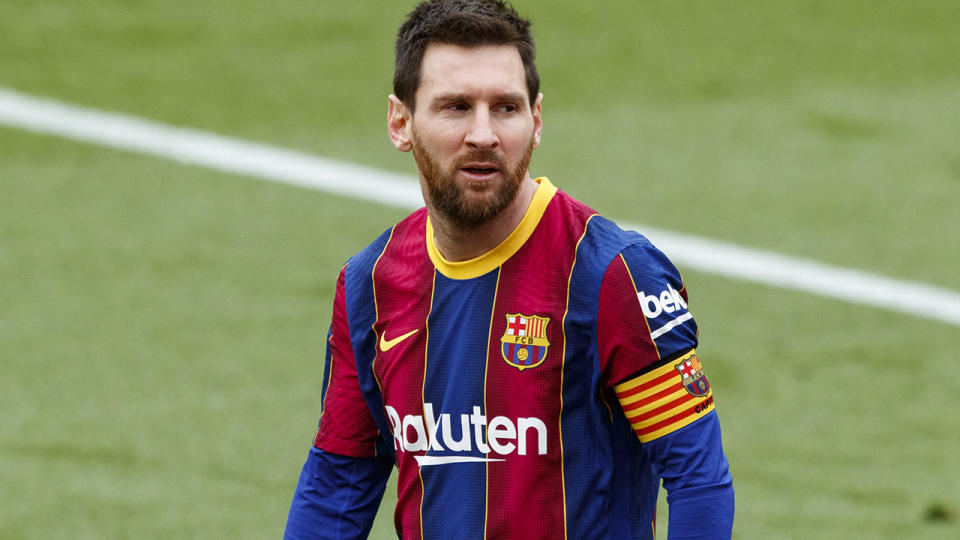 Lionel Messi, pictured here in action for Barcelona in La Liga.