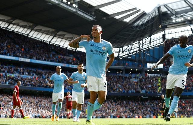 Gabriel Jesus scored twice when Liverpool lost 5-0 to Manchester City