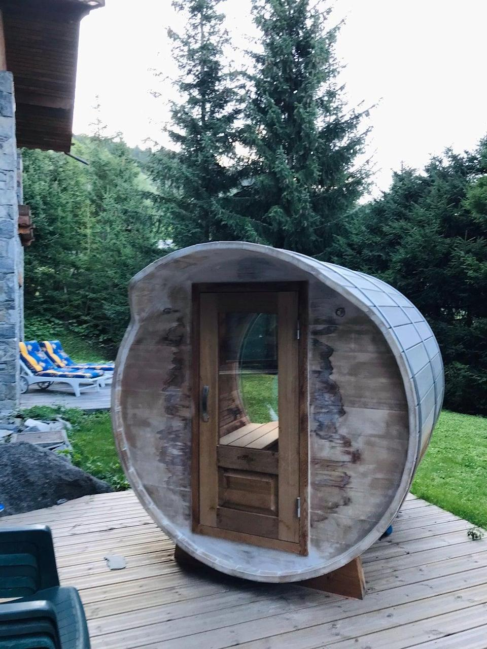 The heat of Chalet Etienne's sauna will no doubt go down a treat in colder months (Hannah Millington, PA)