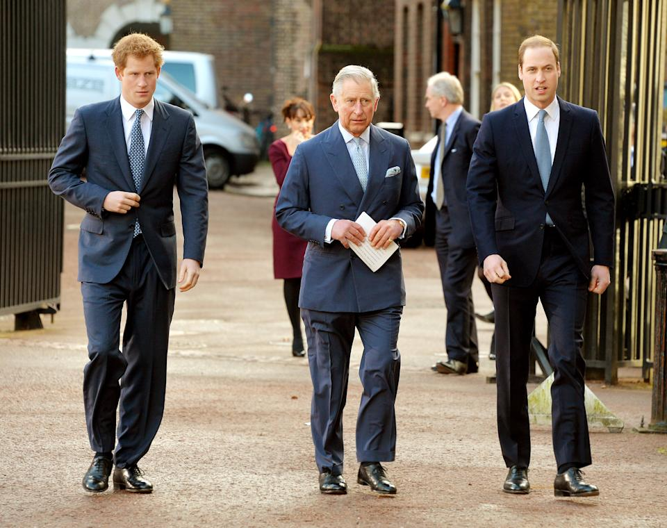 Prince Charles is thought to be looking forward to his reunion with Harry, however, things may be frostier between William and his brother. Photo: Getty