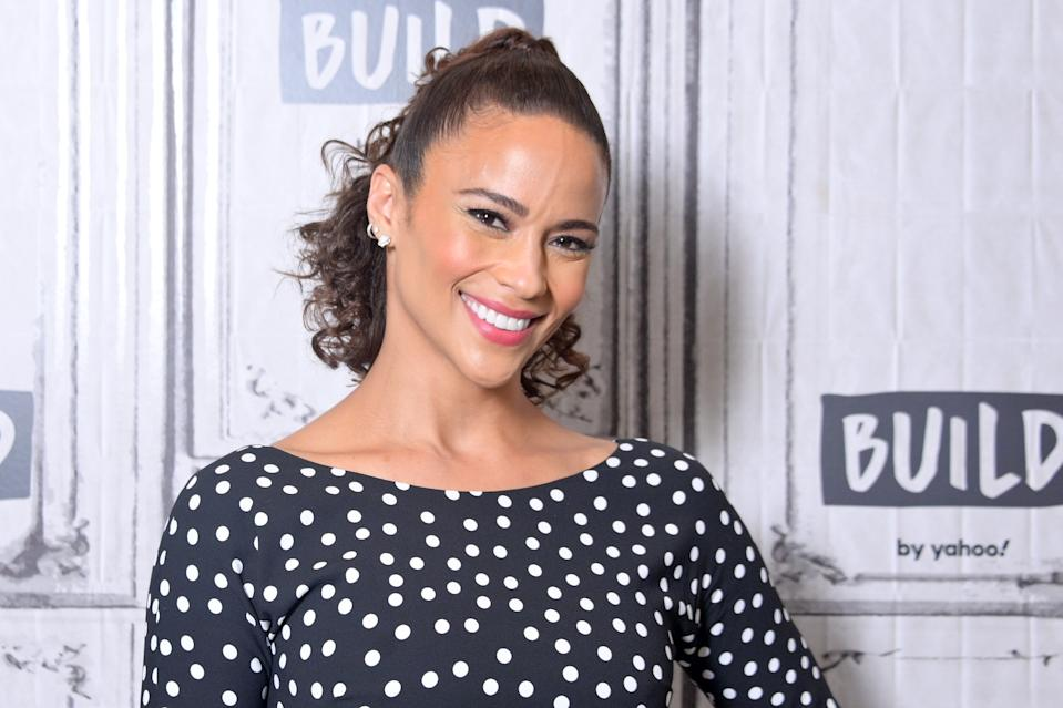 """NEW YORK, NEW YORK - DECEMBER 18: Paula Patton visits Build to discuss  the movie """"Sacrifice"""" at Build Studio on December 18, 2019 in New York City. (Photo by Michael Loccisano/Getty Images)"""