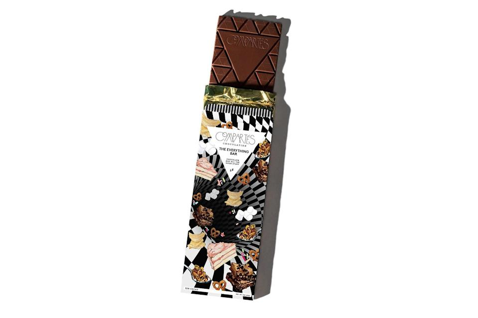 """$10, Compartes. <a href=""""https://compartes.com/products/everything-bar-gourmet-chocolate-bar"""" rel=""""nofollow noopener"""" target=""""_blank"""" data-ylk=""""slk:Get it now!"""" class=""""link rapid-noclick-resp"""">Get it now!</a>"""