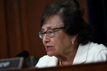 House Appropriations Subcommittee Chairwoman Nita Lowey (D-NY) speaks during testimony by U.S. Secretary of State Mike Pompeo at a hearing on the State Department's budget request for 2020 in Washington, U.S. March 27, 2019. REUTERS/Erin Scott