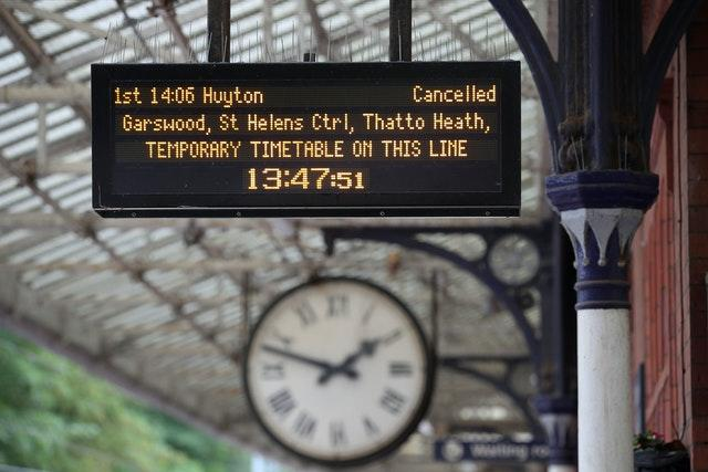 The introduction of new timetables in May 2018 led to chaos across large parts of the rail network (Nick Potts/PA)
