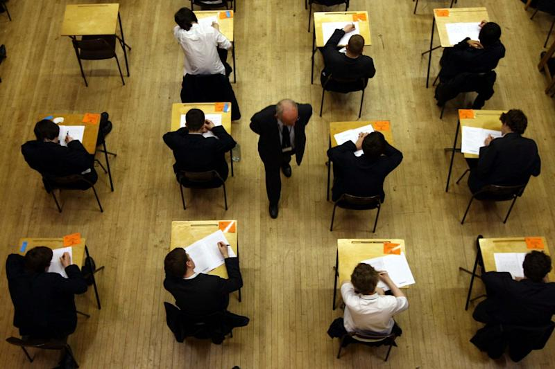 Ofqual has announced that GCSE and A-level students can sit their exams in autumn if they are unhappy with their calculated coursework grades: PA