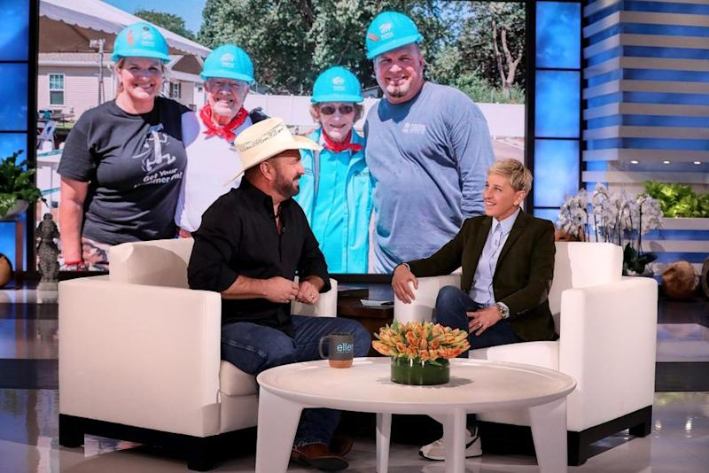Garth Brooks and Ellen DeGeneres | Michael Rozman/Warner Bros.
