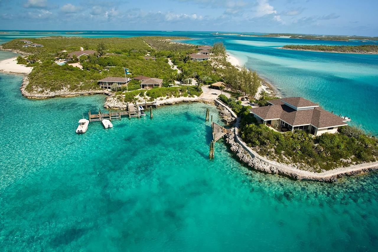 """<p>Book here: <a href=""""https://www.fowlcay.com/"""" target=""""_blank"""">fowlcay.com</a></p> <p>It's all about far-flung and high-end privacy here in the dazzling Exumas—a bundle of 365 tiny isles and cays in the Bahamas' shimmering Out Islands. With just six whitewashed, two- and three-bedroom villas scattered thoughtfully over this 50-acre private island, Fowl Cay practically feels like one's own island. From cocktails and dinners taken at the stylish Hill House and games of bocce on the private beach, to your own motorboat for exploring the """"neighborhood"""" and a well-stocked villa kitchen, everything is at your fingertips. </p> <p><em>Rates start at $1,792 (for a one-bedroom villa) per night.</em></p>"""