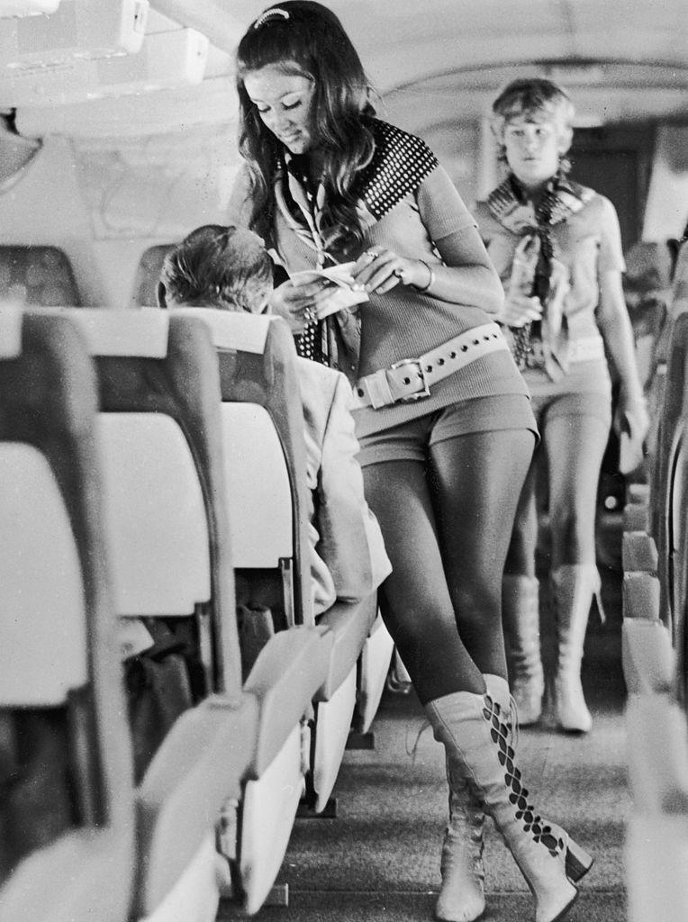 "<p>Through the 1970s, some airlines pushed the uniform boundaries and exploited their employees. Flight attendants with Southwest Airlines had to wear hot pants and leather boots. The airline's motto was ""sex sells seats."" </p>"