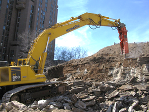 Industrial demolition and onsite material processing