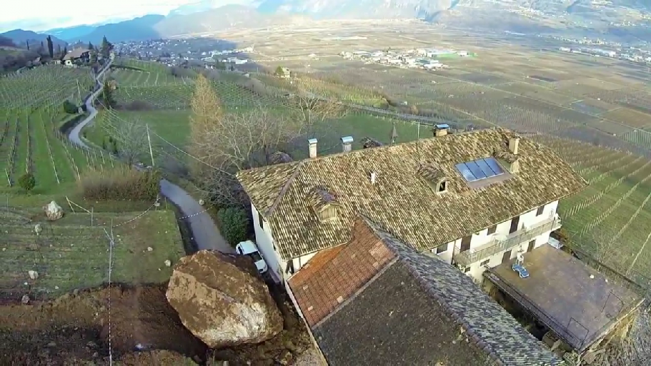 Incredible Video Shows How Boulders Demolished a 300-Year-Old Italian Farmhouse