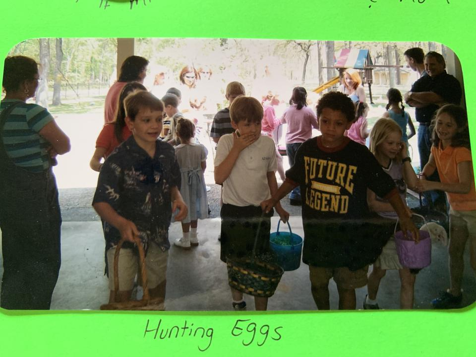 Future legend Patrick Mahomes goes hunting for Easter eggs in the second grade. (Courtesy of Andi Tatum)