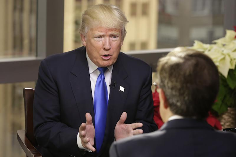 President-elect Donald Trump is interviewed by Chris Wallace