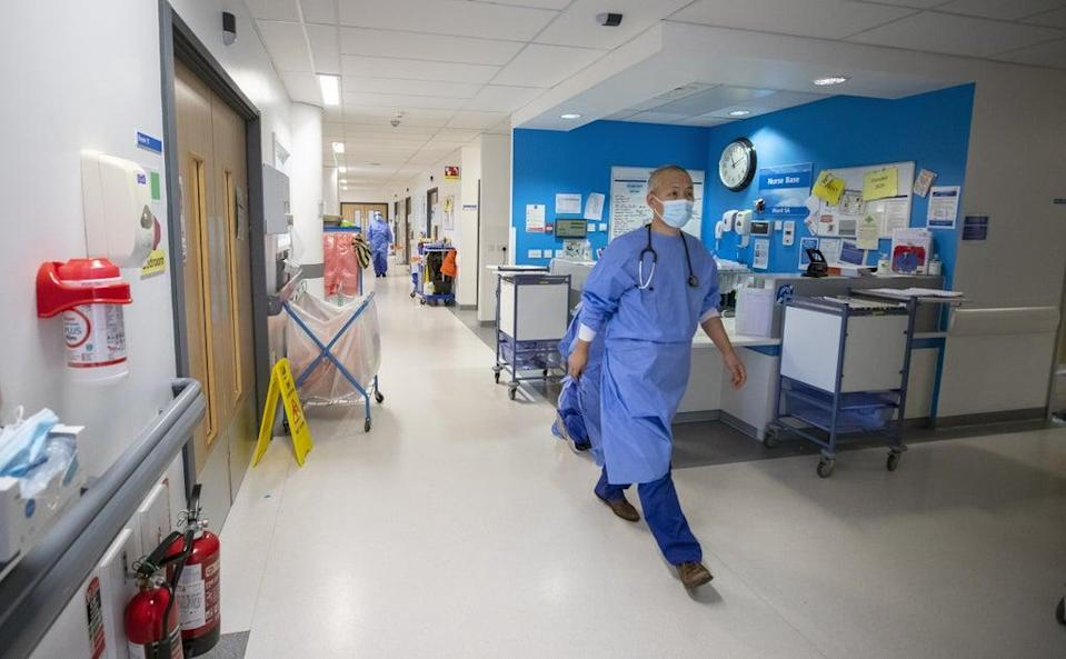 The report suggests the projected gap in the workforce is in addition to current vacancies across the health and care system (Peter Byrne/PA) (PA Wire)