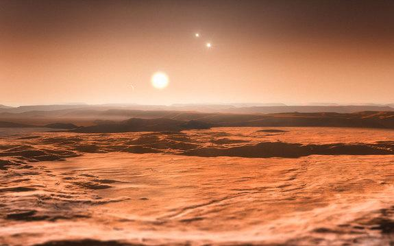 Artist's impression of the Gliese 667C system.