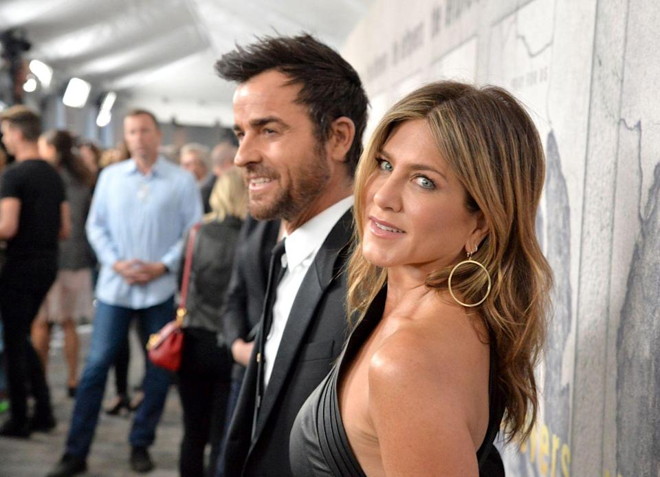 <p>Jen knows how to show the camera some love. Her and then-husband Justin Theroux attended the season three premiere of HBO's <em>The Leftovers</em> in 2017.<br></p>