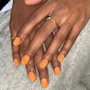 """If you're nail-art averse but still want to get into the spirit, go with a classic pumpkin orange like <a href=""""https://shop-links.co/1719505344305622015"""" rel=""""nofollow noopener"""" target=""""_blank"""" data-ylk=""""slk:OPI's Suzi Needs a Loch Smith."""" class=""""link rapid-noclick-resp"""">OPI's Suzi Needs a Loch Smith.</a>"""