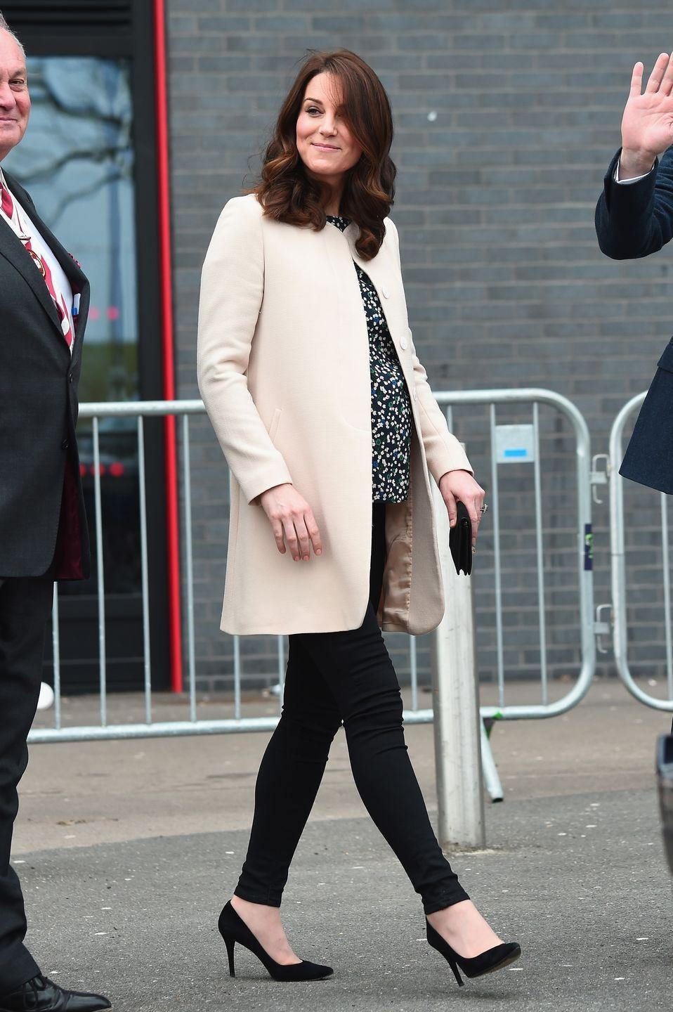 """<p>The Queen was reportedly very upset with the Duke and Duchess of Cambridge when she found out Kate wanted to keep her <a href=""""http://www.marieclaire.co.uk/entertainment/people/queen-prince-william-argument-546822"""" rel=""""nofollow noopener"""" target=""""_blank"""" data-ylk=""""slk:public appearances"""" class=""""link rapid-noclick-resp"""">public appearances</a> """"to a minimum"""" during her third pregnancy—understandable, since she's prone to <a href=""""https://www.marieclaire.com/celebrity/a12813676/kate-middleton-first-public-appearance-since-third-baby-announcement/"""" rel=""""nofollow noopener"""" target=""""_blank"""" data-ylk=""""slk:severe morning sickness"""" class=""""link rapid-noclick-resp"""">severe morning sickness</a>. Nevertheless, Her Majesty thought the future <a href=""""https://www.marieclaire.com/culture/g15950054/british-royal-terms-phrases-glossary/?slide=3"""" rel=""""nofollow noopener"""" target=""""_blank"""" data-ylk=""""slk:Queen consort"""" class=""""link rapid-noclick-resp"""">Queen consort</a> shouldn't skip out on her duties.</p>"""