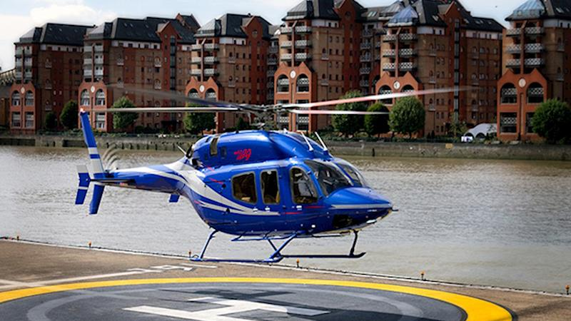 One of Luxaviation Helicopters' charter helicopters