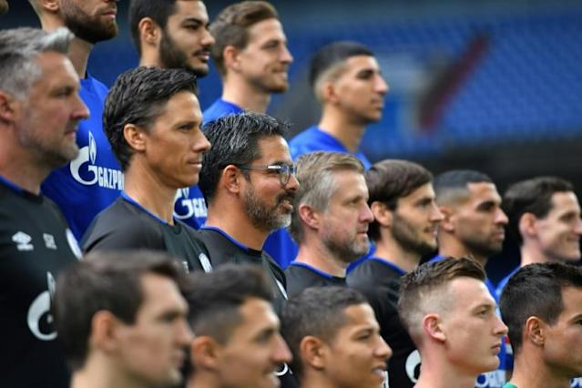 Stuck in the middle: Wagner has had to navigate a major political scandal within weeks of arriving at Schalke (AFP Photo/INA FASSBENDER)