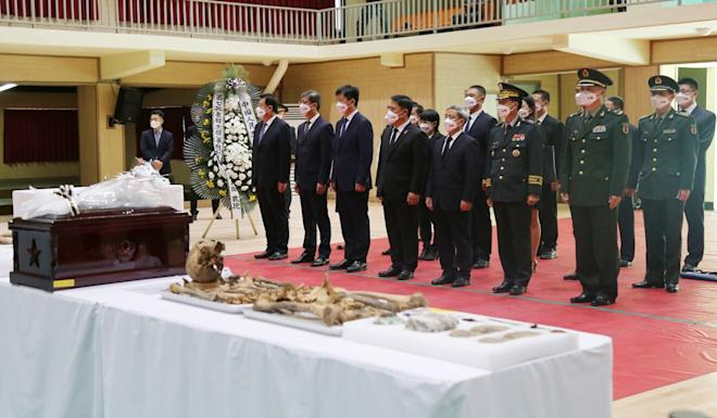 Sunday's repatriation of remains from South Korea was the seventh since 2014. Photo: EPA-EFE