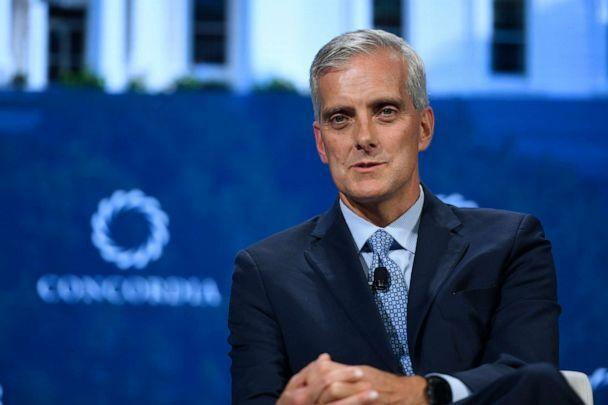 PHOTO: Denis McDonough speaks onstage during the 2018 Concordia Annual Summit at Grand Hyatt New York, Sept. 24, 2018. (Riccardo Savi/Getty Images, FILE)