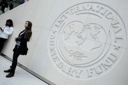 International Monetary Fund logo is seen in Washington