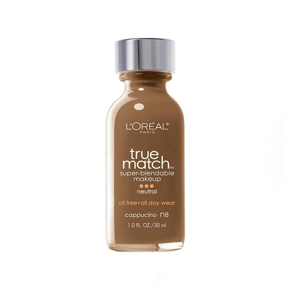 """I've been using the True Match formula since undergrad. It's affordable, provides great coverage and comes in a variety of shades so you can spend less time trying to blend your way into a match and more time enjoying your naturally (looking) flawless base. —<em>M.O.</em> $11, L'Oréal. <a href=""""https://shop-links.co/1734689440495275020"""" rel=""""nofollow noopener"""" target=""""_blank"""" data-ylk=""""slk:Get it now!"""" class=""""link rapid-noclick-resp"""">Get it now!</a>"""