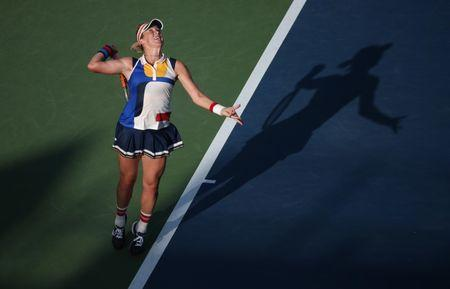 Anastasia Pavlyuchenkova of Russia.  Jerry Lai-USA TODAY Sports