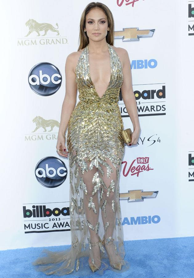 """Best dressed: Jennifer Lopez worked the <a href=""""http://uk.lifestyle.yahoo.com/photos/celebrities-metallic-fashion-trend-clothes-outfit-style-slideshow/"""" target=""""_blank"""">metallic</a> trend in sequinned Zuhair Murad SS13 Couture."""