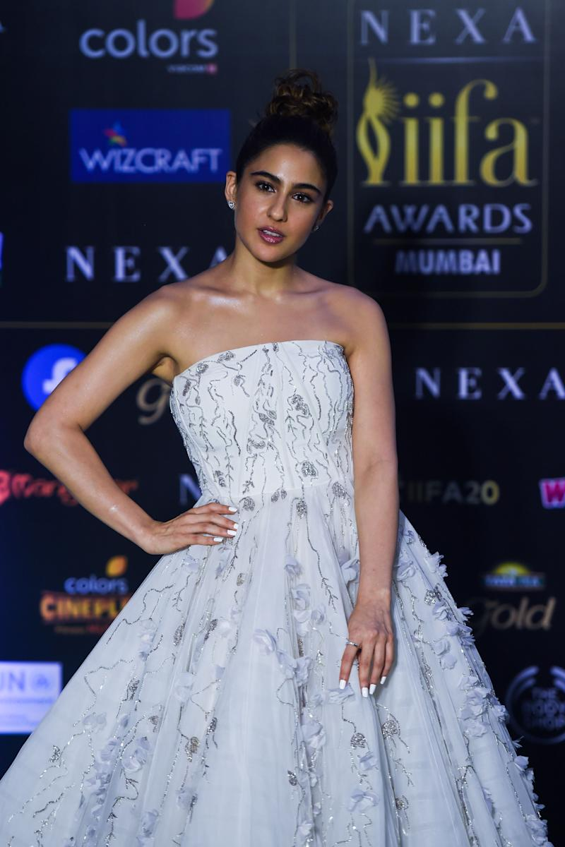 Sara Ali Khan won best female debut at the IIFA awards for <i>Kedarnath</i>. (Photo: PUNIT PARANJPE via Getty Images)