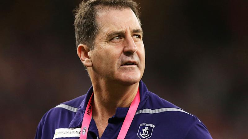 Ross Lyon, pictured here during a Fremantle game. (Photo by Paul Kane/Getty Images)