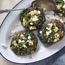 <p>These stuffed portobello mushrooms have a filling inspired by the Greek spinach pie, spanakopita. To keep them quick, we ditched the phyllo, so they're great for an easy weeknight vegetarian dinner.</p>