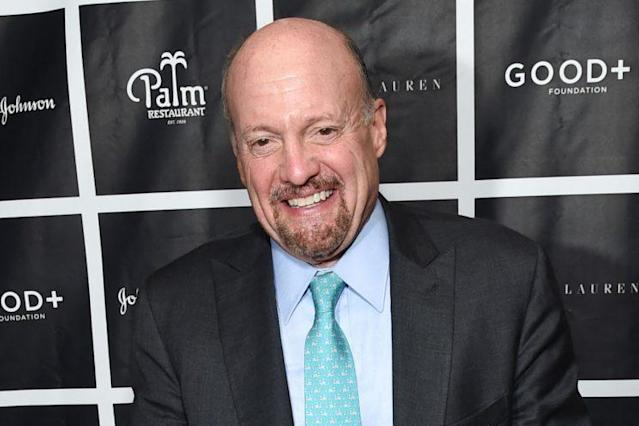Jim Cramer attends a benefit lunch in New York in October. (Photo: Evan Agostini/Invision/AP)