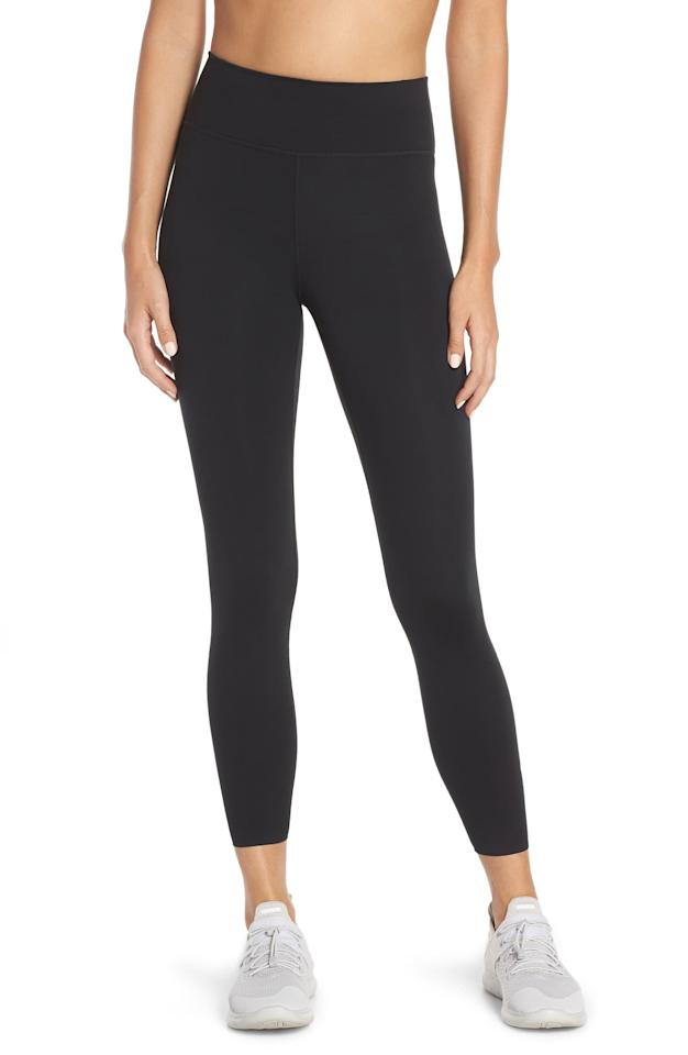 """<p>These <product href=""""https://www.nordstrom.com/s/nike-one-lux-7-8-tights/5044023?origin=category-personalizedsort&amp;breadcrumb=Home%2FWomen%2FClothing%2FActivewear&amp;color=dark%20beetroot%2F%20clear"""" target=""""_blank"""" class=""""ga-track"""" data-ga-category=""""internal click"""" data-ga-label=""""https://www.nordstrom.com/s/nike-one-lux-7-8-tights/5044023?origin=category-personalizedsort&amp;breadcrumb=Home%2FWomen%2FClothing%2FActivewear&amp;color=dark%20beetroot%2F%20clear"""" data-ga-action=""""body text link"""">Nike One Lux 7/8 Tights</product> ($90) are a great option for pretty much any sort of movement.</p>"""
