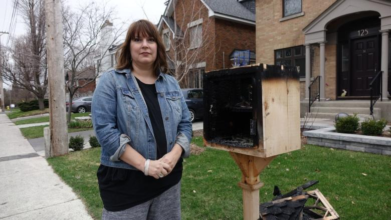 Arsonist torches Ottawa family's front yard library