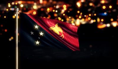 papua, new, port, guinea, shine, town, moresby, flag, anthem, steel, national, travel, guinean, cloth, glowing, yellow, urban,