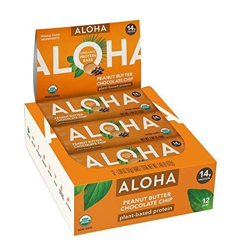 "<p><strong>ALOHA</strong></p><p>amazon.com</p><p><strong>$21.99</strong></p><p><a href=""https://www.amazon.com/dp/B0178ENI4K?tag=syn-yahoo-20&ascsubtag=%5Bartid%7C10055.g.35886676%5Bsrc%7Cyahoo-us"" rel=""nofollow noopener"" target=""_blank"" data-ylk=""slk:Shop Now"" class=""link rapid-noclick-resp"">Shop Now</a></p><p>This vegan protein bar provides half your day's worth of fiber and tastes great too. <strong>Free from sugar alcohols and stevia, this choice is also USDA organic and packs in 14 grams of plant-based protein. </strong>Testers like that it isn't chalky or artificial-tasting like other vegan protein bars on the market.</p>"