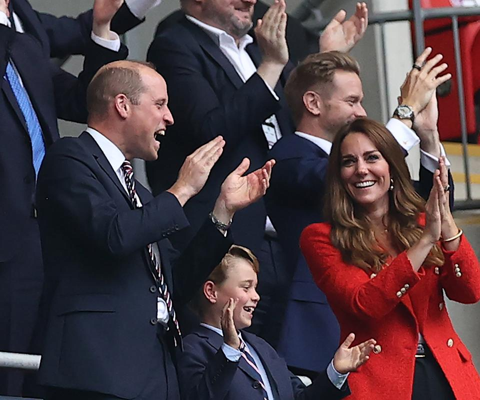 Prince George, Prince William and Kate Middleton at the Euros 2021