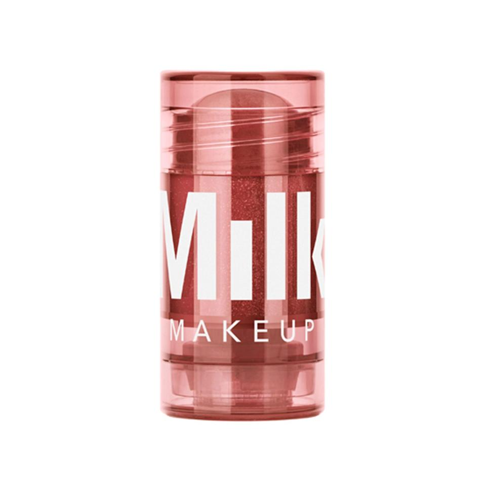 "<p>Lip oils also come in stick form with the Milk Makeup Glow Oil Lip + Cheek. Dab it onto your cheeks too for a monochromatic makeup moment. Glimmer (above) is a soft mauve flecked with shimmer, but if you want something brighter, try the twinkling hot pink called Halo. Both are steeped with rice bran oil, which is a natural <a href=""https://www.allure.com/story/squalane-vs-squalene-skin-care-difference?mbid=synd_yahoo_rss"" rel=""nofollow noopener"" target=""_blank"" data-ylk=""slk:source of squalene"" class=""link rapid-noclick-resp"">source of squalene</a>. </p> <p><strong>$15 (</strong><a href=""https://shop-links.co/1705763632647206075"" rel=""nofollow noopener"" target=""_blank"" data-ylk=""slk:Shop Now"" class=""link rapid-noclick-resp""><strong>Shop Now</strong></a><strong>)</strong> </p>"