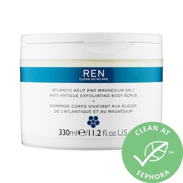 <p>If your muscles are aching, the simple act of rubbing in the <span>Ren Clean Skincare Atlantic Kelp and Magnesium Salt Anti-Fatigue Exfoliating Body Scrub</span> ($49) activates microcirculation in your body to offer some relief. The scrub also includes epsom and sea salts to relax visible signs of irritation on stressed skin, plus energizing essential oils (like sage and rosemary) fight fatigue as well.</p>