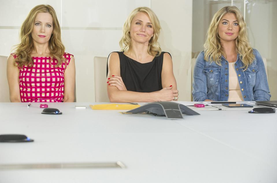 THE OTHER WOMAN, from left: Leslie Mann, Cameron Diaz, Kate Upton, 2014. ph: Barry Wetcher/TM & copyright ©20th Century Fox Film Corp. All rights reserved./Courtesy Everett Collection