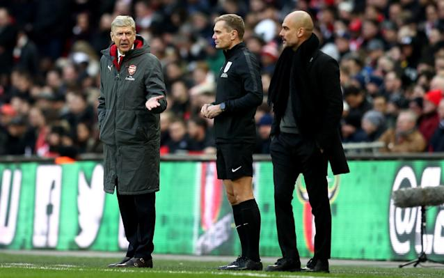 "In what can only be described as an admirable self-own, Arsene Wenger has admitted, having questioned fourth official Graham Scott as to why there was so little injury time at the end of the League Cup final, he was asked: ""Why do you want more time?"" Arsenal were comprehensively beaten by Manchester City at Wembley, their defensive disorganisation allowing Sergio Aguero, Vincent Kompany and David Silva to score three relatively simple goals. The gulf between the north London side and the Premier League champions elect was enormous, with many Arsenal fans heading for the exits barely a quarter of the way through the second half. Speaking in his post-match press conference, Wenger said: ""We know it was difficult to come back [from 3-0 down], even the referee doesn't give the injury time, the added time, regular. ""When I said 'Why do you not give more time?' he told me 'Why do you want more time?' I told him: 'It's not down to you to judge how long is the time, if you want or not, give a normal [amount of] added time'."" Wenger did concede that City were the better side, saying: ""Well done to City, congratulations to them. They won the trophy, they won the cup and they will go happy home. We will go [home] very disappointed."" Having gone out of the FA Cup to Nottingham Forest and currently 27 points behind City in the Premier League, Arsenal's last chance of silverware this season now lies with the Europa League. They have been drawn against AC Milan in Europe, however, so the disappointment could well be set to continue."
