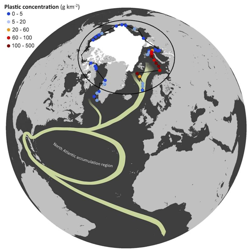 The route taken by plastic pollution from the Atlantic to the Arctic (Andrez Cozar)