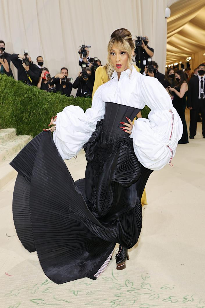 MJ Rodriguez attends the 2021 Met Gala.
