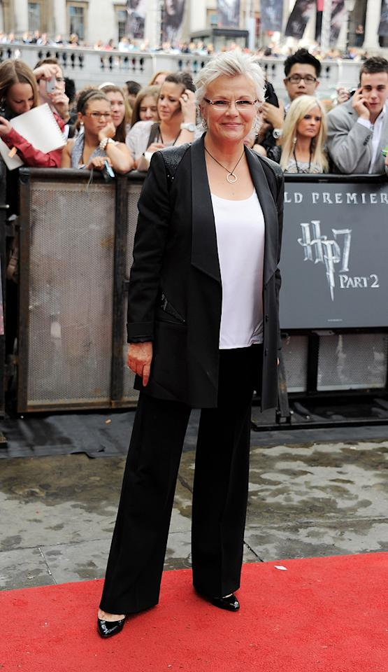 "<a href=""http://movies.yahoo.com/movie/contributor/1800042727"">Julie Walters</a> at the London world premiere of <a href=""http://movies.yahoo.com/movie/1810004624/info"">Harry Potter and the Deathly Hallows - Part 2</a> on July 7, 2011."