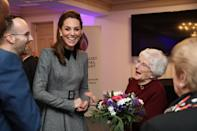 Kate shared a joke with Holocaust survivor Yvonne Bernstein after the UK Holocaust Memorial Day Commemorative Ceremony in Westminster in January 2020. (Chris Jackson/Getty Images)