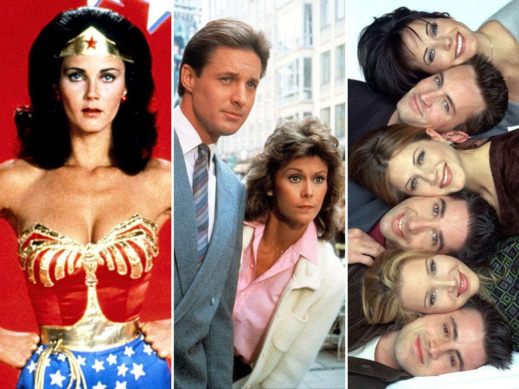 "During part of its run, ""Full House"" was shot on <a href=""http://www.thestudiotour.com/warnerbros/stage24.shtml"">Stage 24</a> at the Warner Bros. lot in Burbank, California. That same soundstage housed ""Wonder Woman"" (left) from 1977 to 1978, ""Scarecrow and Mrs. King"" (center) from 1983 to 1987, and ""Homefront"" from 1991 to 1993. Stage 24 was then home to ""Friends"" (right) during the show's 1994 to 2004 run."