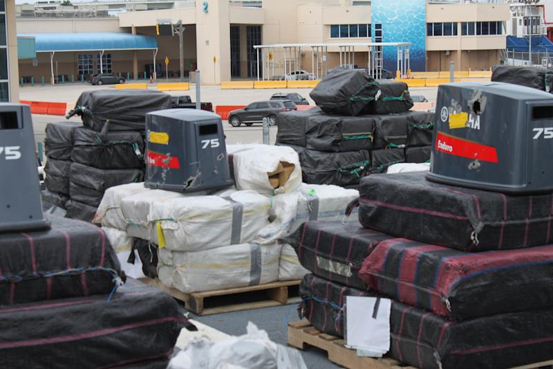 US Coast Guard James drug offload cocaine drugs bricks