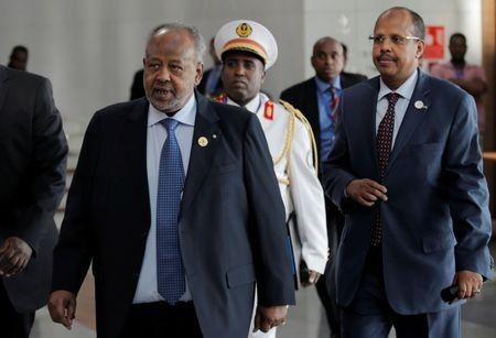 Djibouti's President Ismail Omar Guelleh arrives for the 30th Ordinary Session of the Assembly of the Heads of State and the Government of the African Union in Addis Ababa