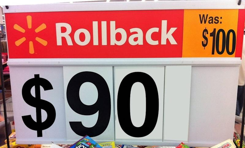 Rollback prices can be for popular products, clearance products and more. Don't confuse rollback prices with clearance prices, however, as Walmart handles clearance sales a little differently. What's classified as a rollback price or a clearance price is sometimes merely a matter of classification though.